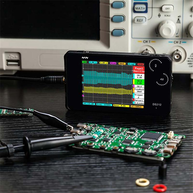Mini ARM DSO212 DS212 Digital Storage Oscilloscope Portable Nano Handheld Bandwidth 1MHz sampling rate 10MSa/s Thumb Wheel #10 image