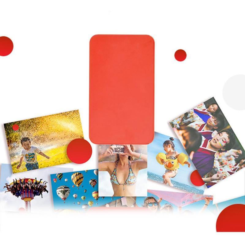 Poche Bluetooth Mini Imprimante Thermique Coloré Image Photo Imprimante pour Android téléphone mobile ios Portable automatique film couverture