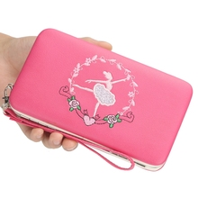 Womens Wallet Small Joe Pencil Case Clutch Bag Student Cute Change Mobile Phone Canvas