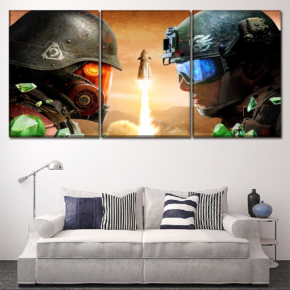 Canvas Pictures Home Decor HD Prints Poster Artworks 3 Pieces Games Command Conquer Rivals Paintings Wall Art Decor Framework in Painting Calligraphy from Home Garden