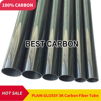 Free shiping OD30mm 31mm 32mm 34mm 35mm 40mm to 60mm, 500mm length High Quality Plain glossy 3K Carbon Fiber Fabric Wound Tube
