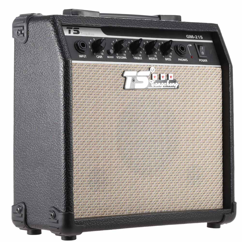 GM 215 15W Electric Guitar Amplifier Guitar Amp Distortion with 3 Band EQ 5 Speaker Guitar
