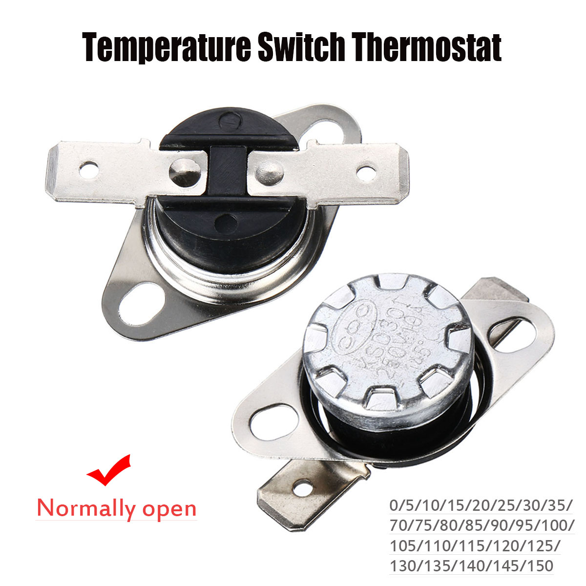 KSD301 Thermostat 45 /° C 10A Normally Open N.0 Pressure Limit Switch Control Pressure Switch Microwave Thermostat Thermal Switch 5 Pieces