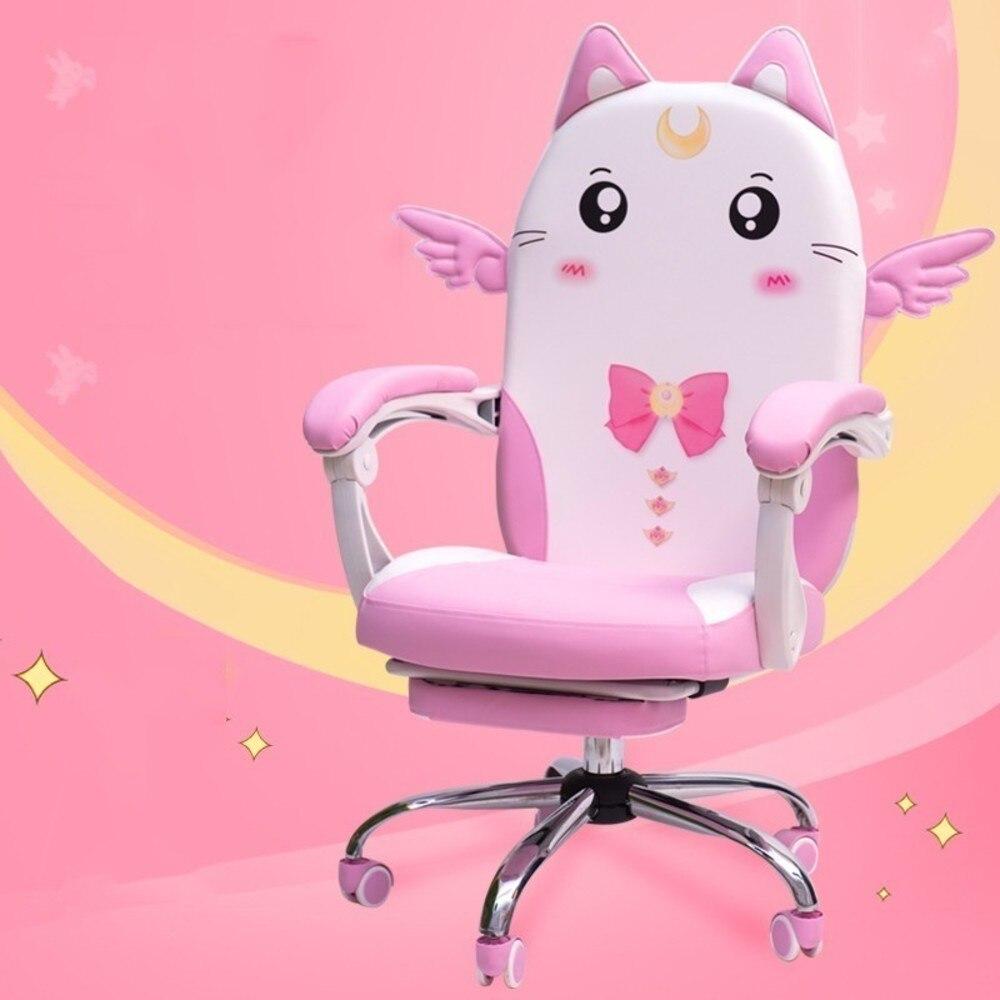 Rosa Colore Bella Principale Semina Famiglia Dormitorio Moderno Concise Studente Semina Diretta Gioco gaming Sedia mobili per ufficio