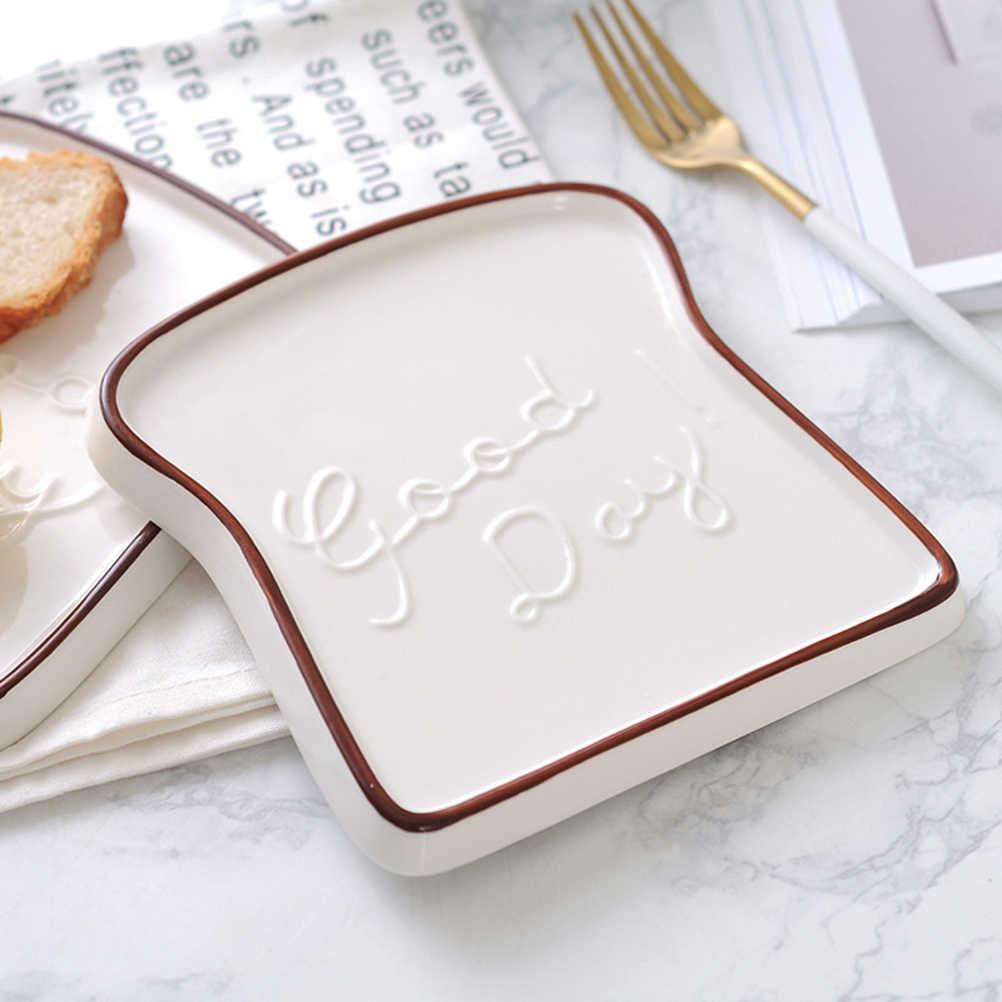 Prato de Jantar de Porcelana Cerâmica criativa Em Forma de Brinde Pão prato de Sobremesa Prato de Salada Prato de Manhã para Festa de Cozinha Restaurante