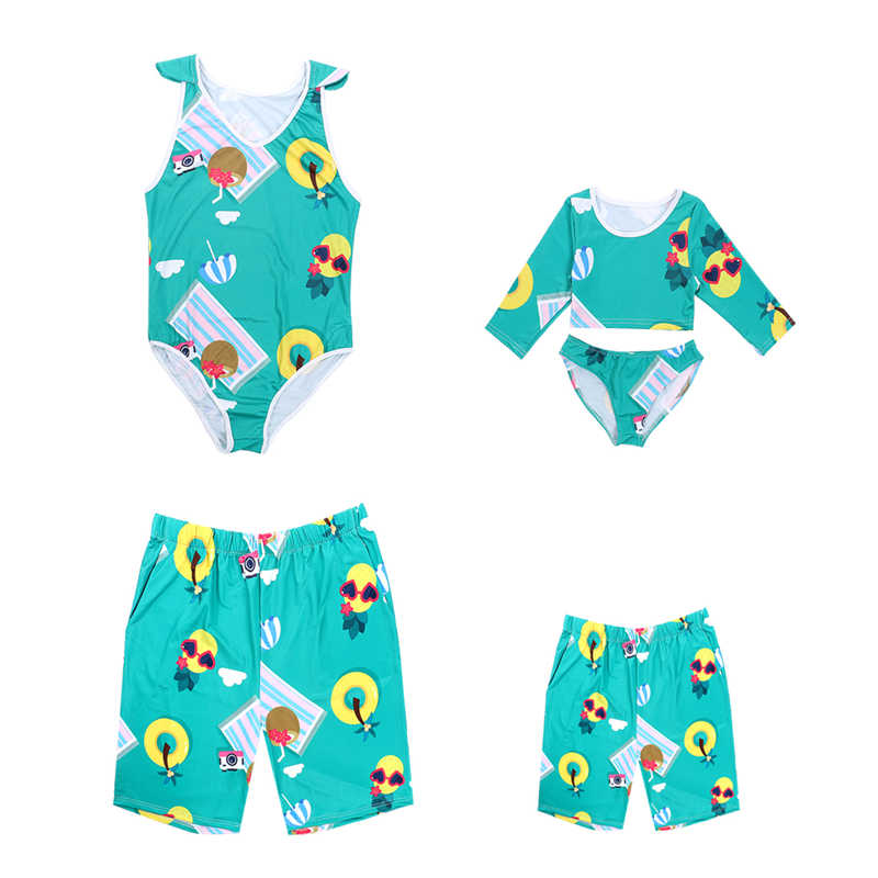 827eccac9d Mommy And Me Swimsuit Floral Family Matching Swimwear Family Outfits Mother  Father Son Daughter Swimwear Beachwear