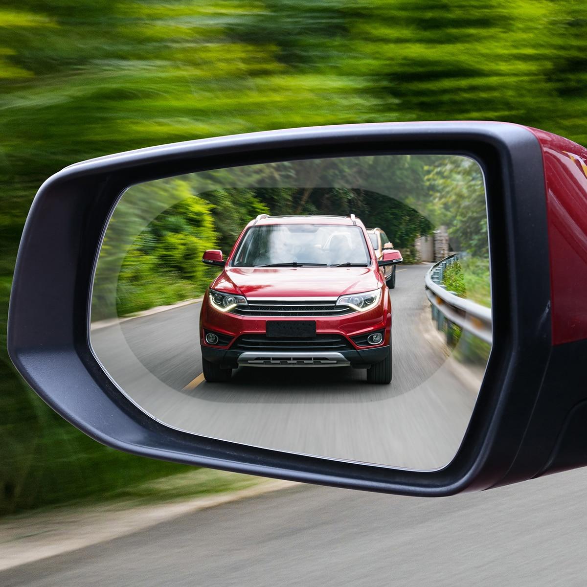 Купить с кэшбэком Car Anti Water Mist Film Anti Fog Rainproof Rearview Mirror Protective Film 1Pair 140*100mm Car Anti Water Mist Film