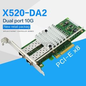 Image 1 - FANMI 10GBase PCI Express x8 82599ES чип, двойной порт, Ethernet сетевой адаптер E10G42BTDA,SFP не входит в комплект