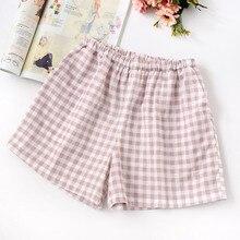 2019 Pajama Pants For Women Cotton Fashion Loose Shorts Lattice Sleep Pants Summ
