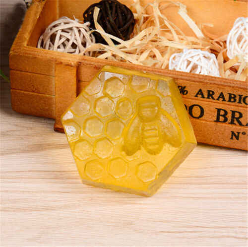 Creative 6 Hole Honey Bee Soap Mold Silicone Diy Handmade