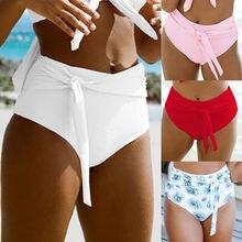 Women Plus Size XL Bikini Bottom Bikini Floral Shorts Sporty Panty High Waist Sw