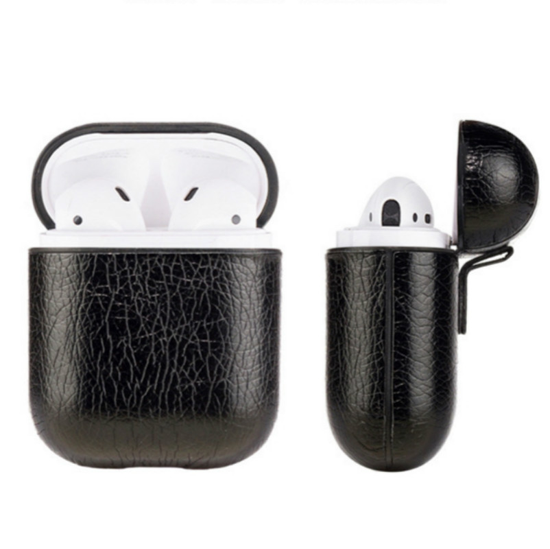 Genuine Leather Hook Case For AirPods Vintage Matte For Apple Airpods  Luxury Protective Storage Bag Black Brown Drop shipping
