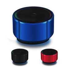Wireless Bluetooth Speaker Metal Mini Speaker Portable Stereo With Mic TF Card FM Radio Mp3 Player Hands-Free Call недорого