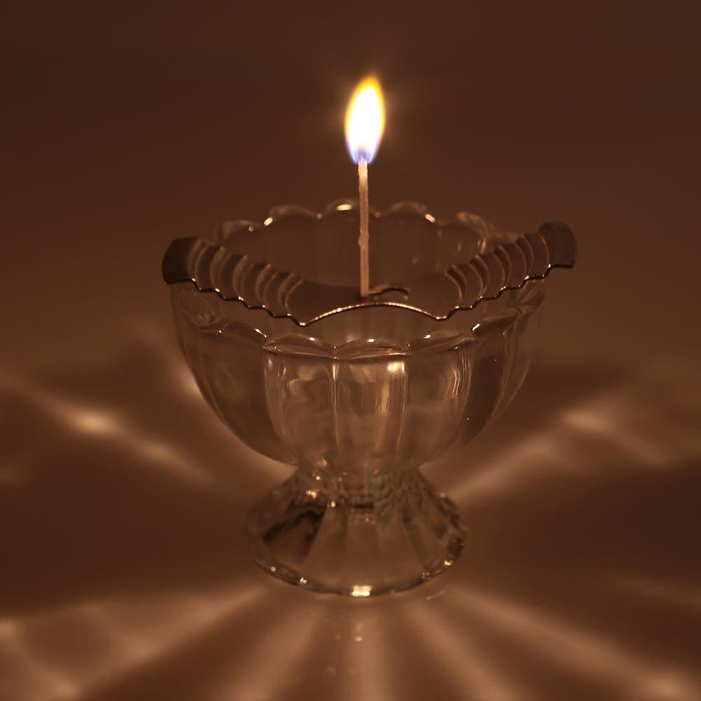 100 шт. лампы в форме свечи 9/15 см с хлопчатобумажной основой домашняя декорационная лампа оплетка нить масляных ламп воск свечи экономического непригорающий бездымный противень