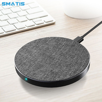 Qi Fast Wireless Charger for Apple iPhone XS Max XR X 8 Mini Quick Wireless Charging Pad Desktop for Samsung Smartphone S9 S8 S7