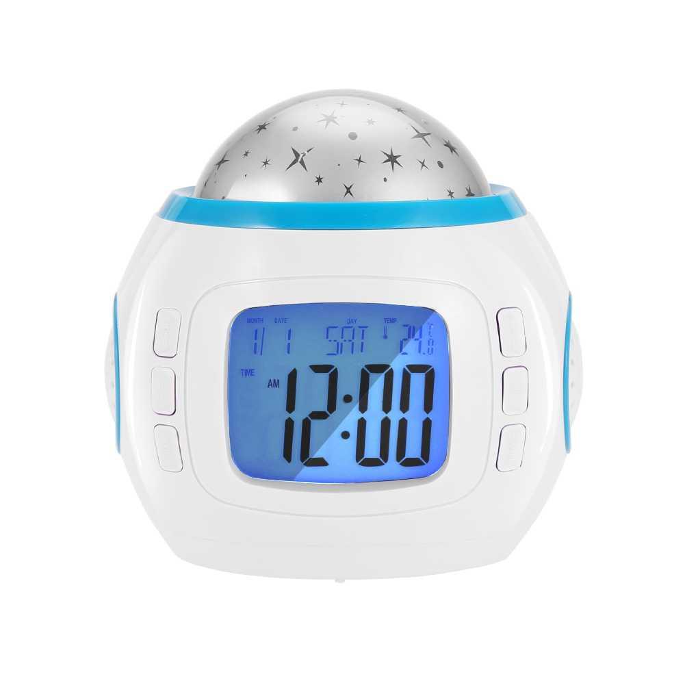 Портативный музыкальный плеер проектор свет звездное небо эффект светодиодный USB лампа-часы декоративный светильник для дома лампа-часы aras лампа для детей