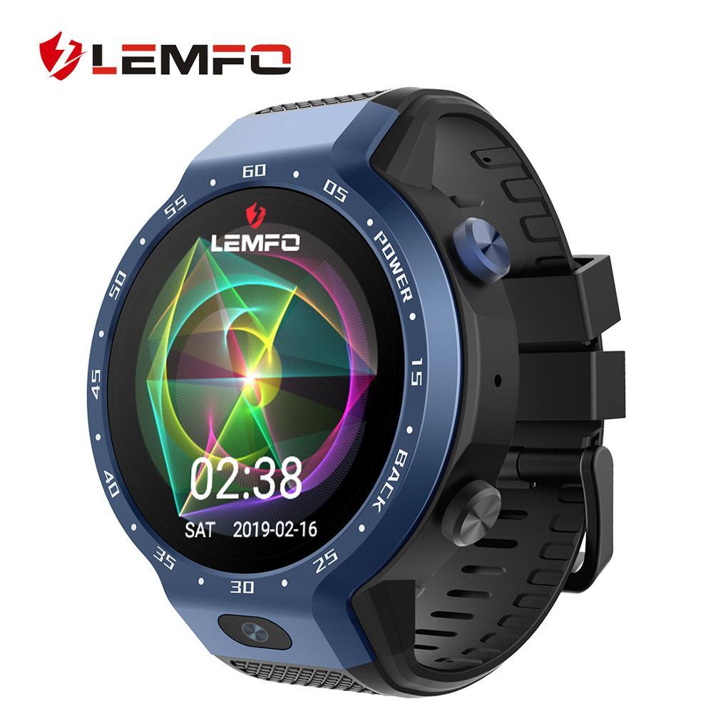 LEMFO LEM9 4G montre intelligente double systèmes Android 7.1.1 LTE 4G Sim 5MP caméra frontale GPS WIFI fréquence cardiaque Smartwatch pour hommes femmes