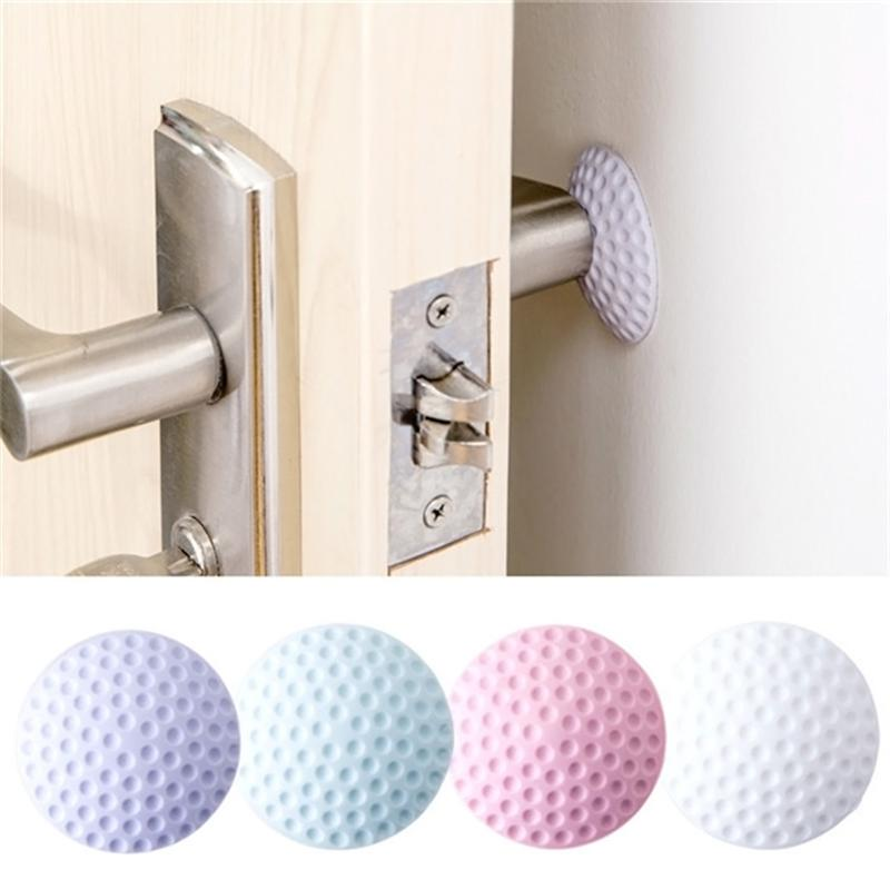 Rubber Round Wall Door Knob Stopper Knob Protector Self Adhesive Door Handle Bumper Crash Pad