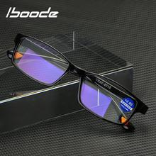 Iboode TR90 Ultralight Anti Blue-Ray okulary do czytania blokujące niebieskie światło okulary do czytania nadwzroczność czytniki okularów + 1 5 2 5 3 5 tanie tanio Lustro Kobiety Unisex Mężczyźni Jasne Z tworzywa sztucznego