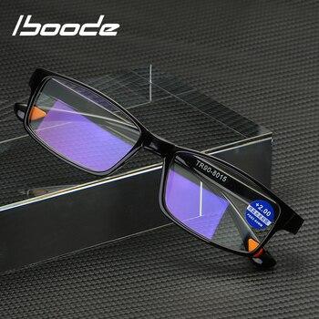 iboode TR90 Ultralight Anti Blue-Ray Reading Glasses Blue Light Presbyopic Hyperopia Eyewear Readers +1.5 2.5 3.5
