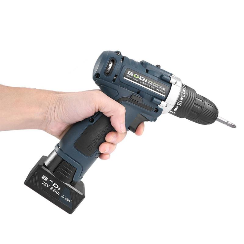 Alloet 25V Dual Speed Electric Screwdriver Cordless Lithium Drill Impact Drills Household Multi-functional Power Driver ToolAlloet 25V Dual Speed Electric Screwdriver Cordless Lithium Drill Impact Drills Household Multi-functional Power Driver Tool