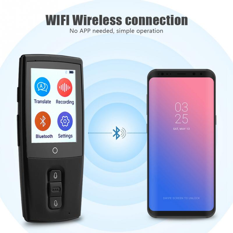 Portable Instant Voice Translator CKT01 Mini Pocket Real Time Multi 43 Languages Travel Smart Translator Interpreter Machine