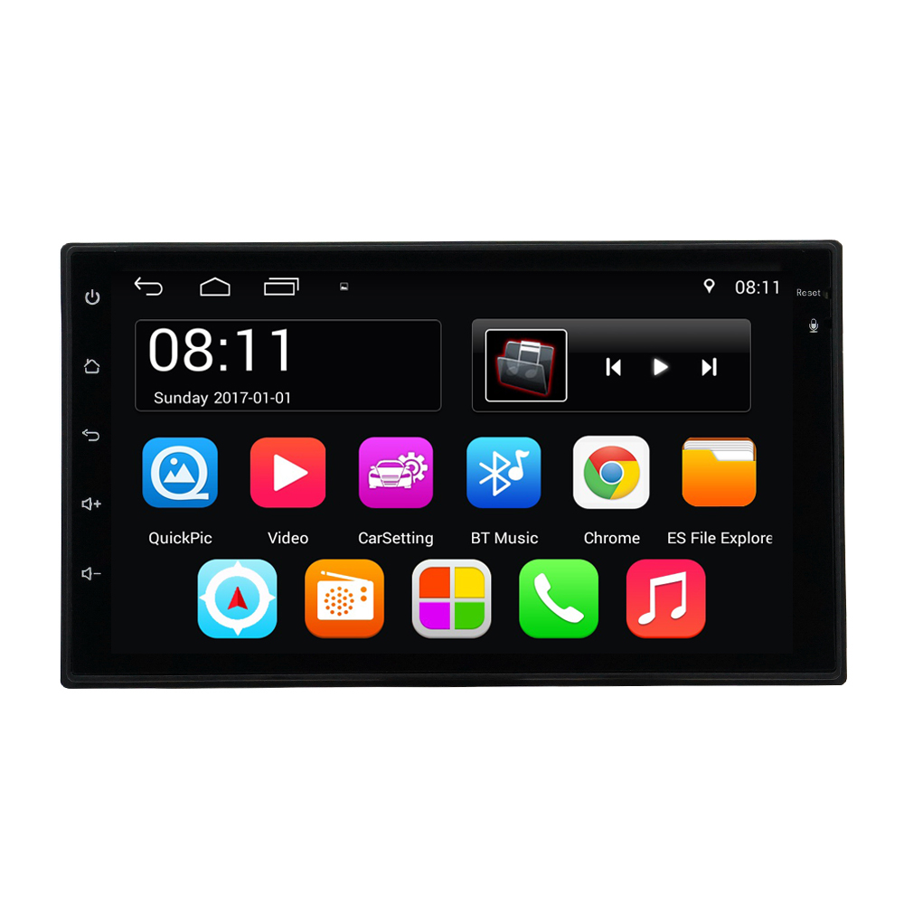 7001 Universal 2 Din Android 6.0 Car Multimedia Player Autoradio 2din Car Radio GPS Navigation Video Player with WiFI Bluetooth