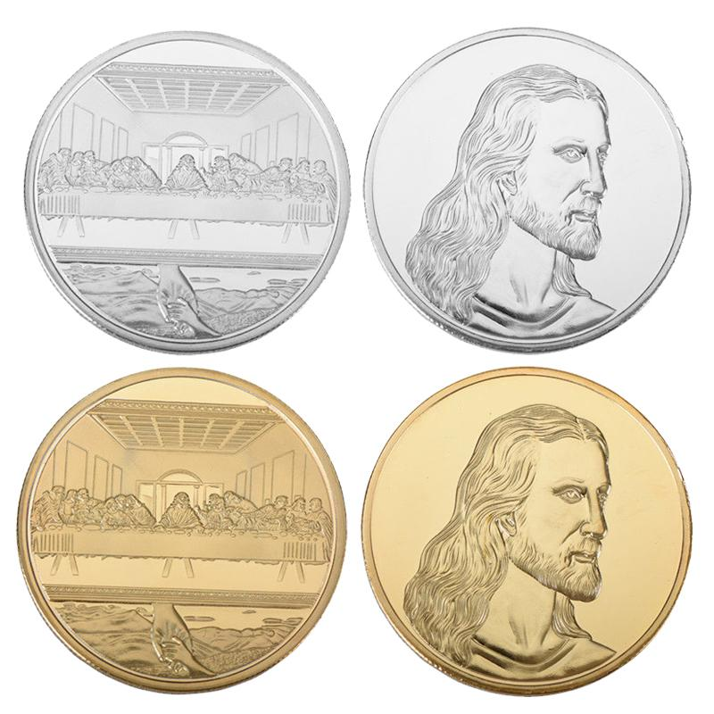 Gold Silver Jesus The Last Supper Commemorative Challenge Coin Promotional  Event Commemorative Coin