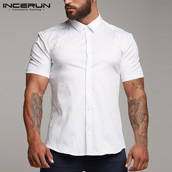 Business Shirt Slim Fit Muscle Casual  1