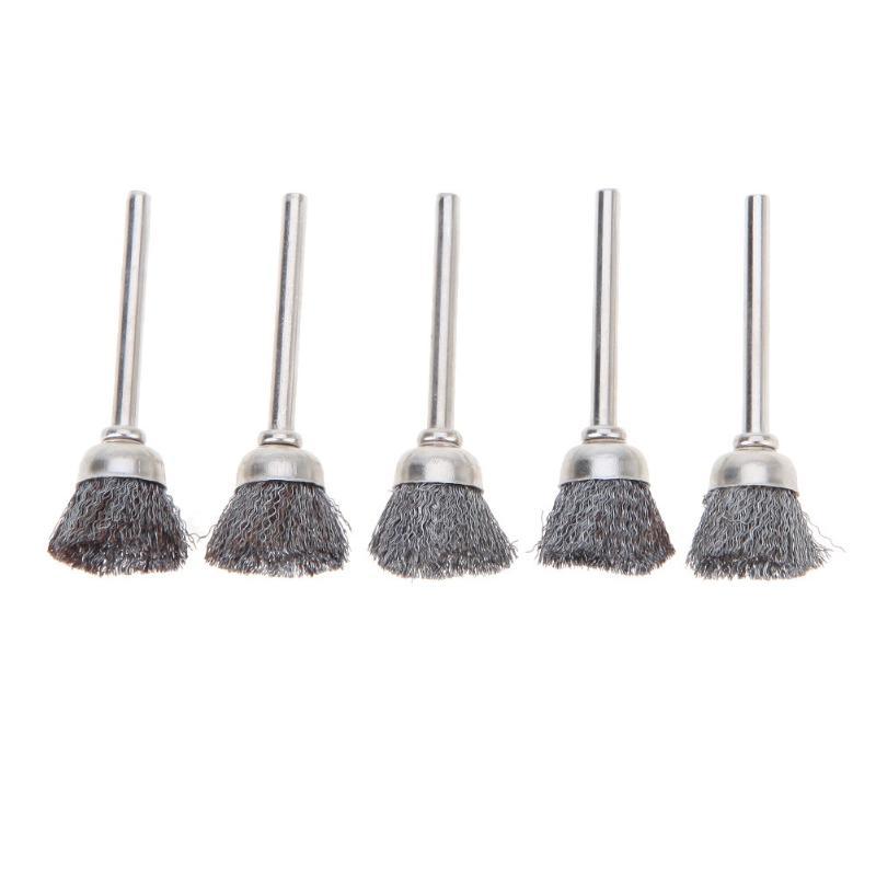 Brass Steel Wire Wheel Brush Polishing Wheels Kit Set For Rotary Tools 25Pcs