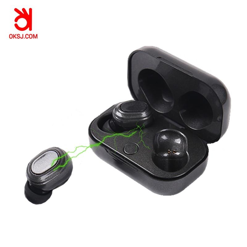 OKSJ SK101 tws earphone bluetooth 5 0 headset wireless earbud with charging box wireless headset bluetooth