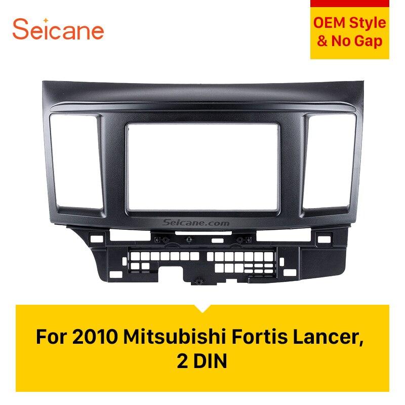 Seicane 2DIN autoradio Fascia pour 2010 Mitsubishi Fortis & Lancer Auto stéréo Installation cadre CD garniture panneau