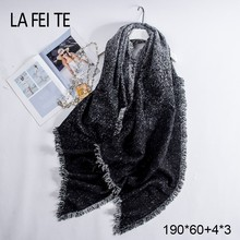 Winter Shawl Cashmere Scarf  Pashmina Women Hijab Leopard Print Poncho Scarves Female Stoles For Ladies 2019