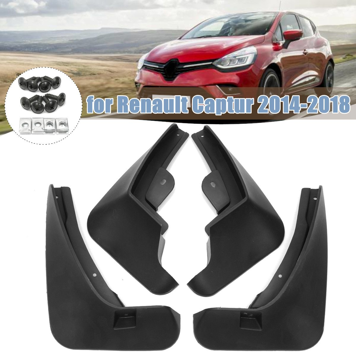 For Renault Captur Accessories 2013 2018 Splash Guards Mud Flaps Fender Mudguard