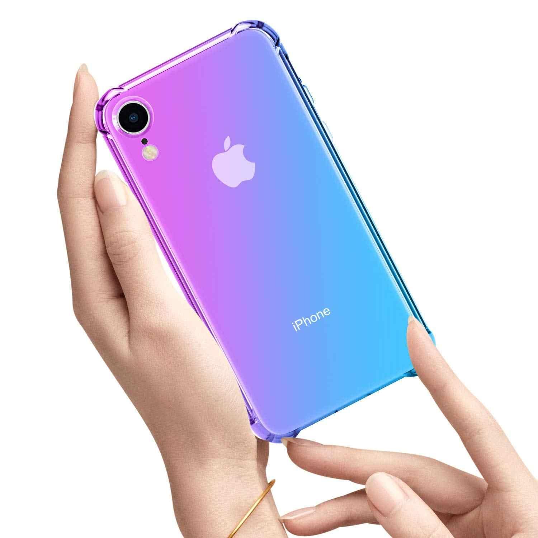Aurora Gradiente Colorato Cassa Del Telefono Per il iPhone XR XS Max X 7 8 6 6S Plus 5 S 5 SE Ultra Trasparente Sottile Casi Della Copertura Molle di TPU Fundas