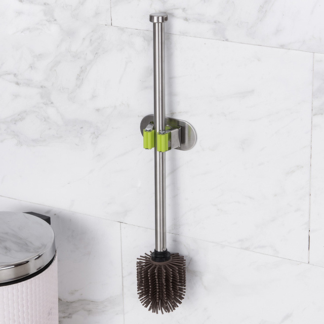 Us 6 46 10 Off Silicone Scrub Toilet Brush Durable Home Use Bathroom Stainless Steel Accessories Long Handle Cleaning Tool Portable In Toilet Brush