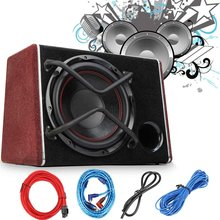 1200W Active Car Subwoofer Speaker Vehicle Universal High Power Amplifier Speaker Super Bass Auto Enclosed Subwoofer Systems(China)