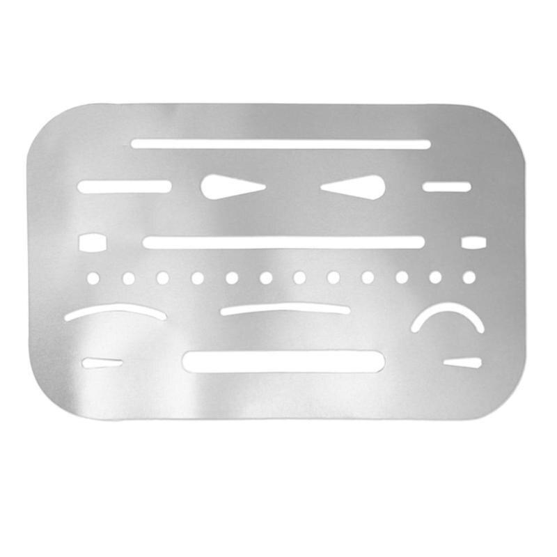 Stainless Steel Erasing Drawing Drafting Tool Shield