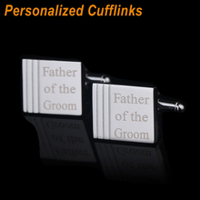 Personalized Customized Cufflinks Laser Engraved Name or Date Classic Wedding Party Cufflink for Mens Jewelry QiQiWu CL-033
