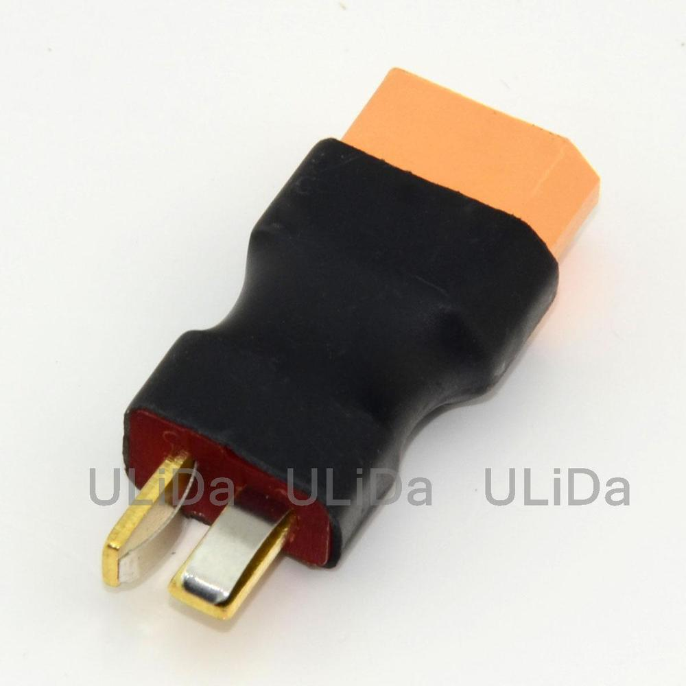Female XT60 XT-60 To Male T-Plug Deans Connector Adapter No wires for Quadcopter Helicopter Car