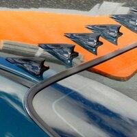 Otomobiller ve Motosikletler'ten Rüzgarlık ve Kanatlar'de Yeni varış 10 adet Shark Fin spoyler hava koşullarına dayanıklı karakteristik karbon Fiber Mini araba çatı araba dekor