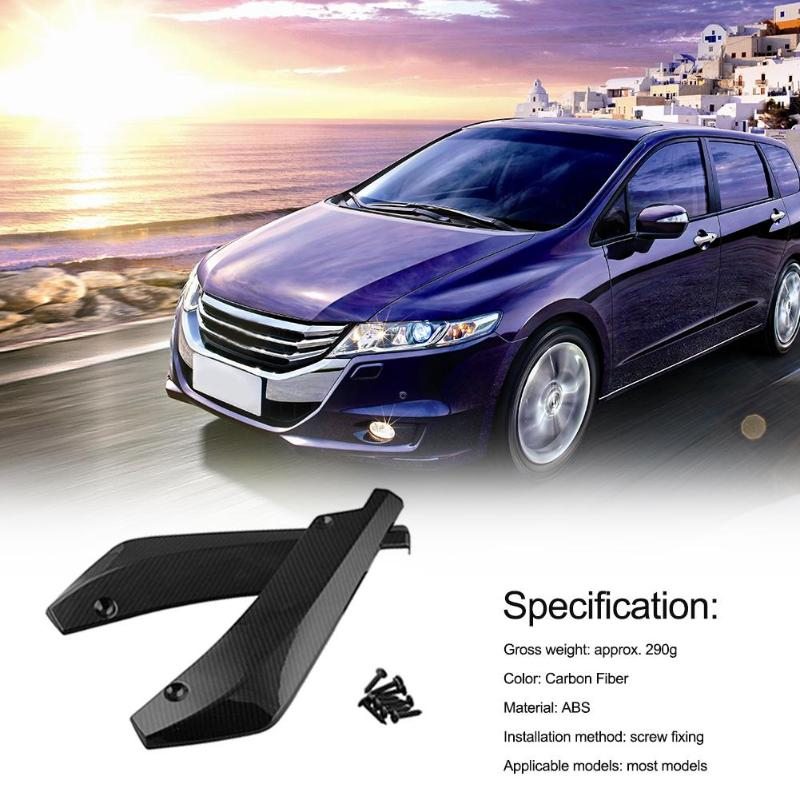 Image 2 - VODOOL 2pcs Universal Car Rear Bumper Lip Spoiler Canards Wrap Angle Scratch Protector Diffusers ABS Car Exterior Parts-in Bumpers from Automobiles & Motorcycles