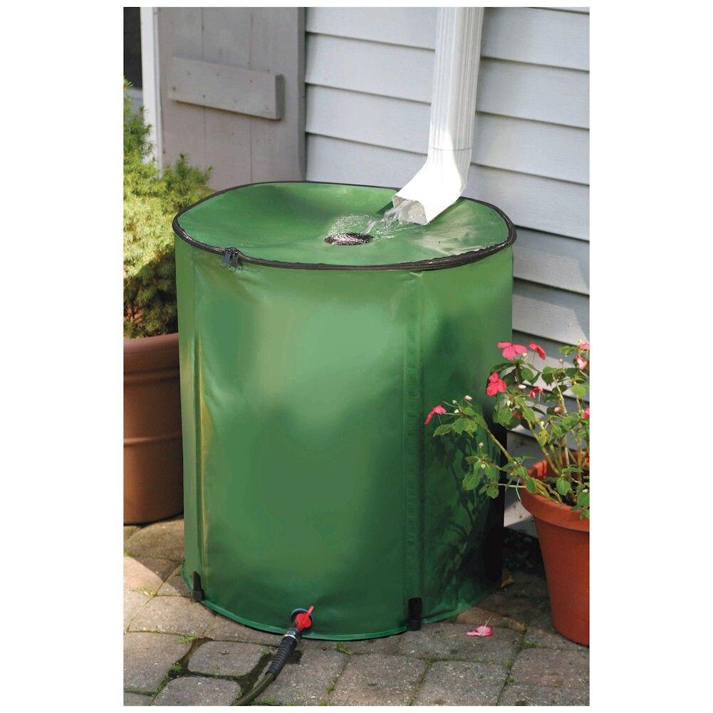 Réservoir de seau de collecte d'eau 280L réservoir de pluie pliable EVA outil de récolte de pluie en plein air