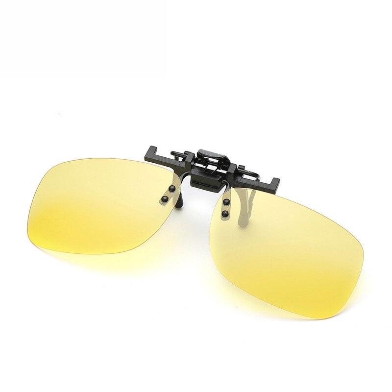 Polarisierte Vintage Clip Auf Flip Up Sonnenbrille Männer Frauen Nachtsicht Gelb Objektiv Für Myopie Brillen Driving Brillen Sonnenbrille