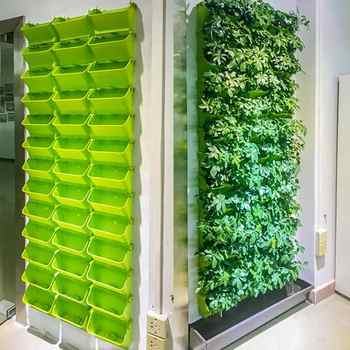 LanLan ガーデン水耕壁掛け垂直フラワーポット多肉植物プランタースタッカブルホームテラコッタポット植木鉢 - DISCOUNT ITEM  37% OFF ホーム&ガーデン