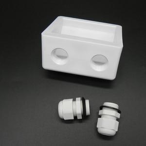 Image 2 - 1 conjunto de kit de suporte de montagem, placa solar abs, cabo de cor branca, entrada gand, ideal para 7 peças de um conjunto para caravan motorhome rv