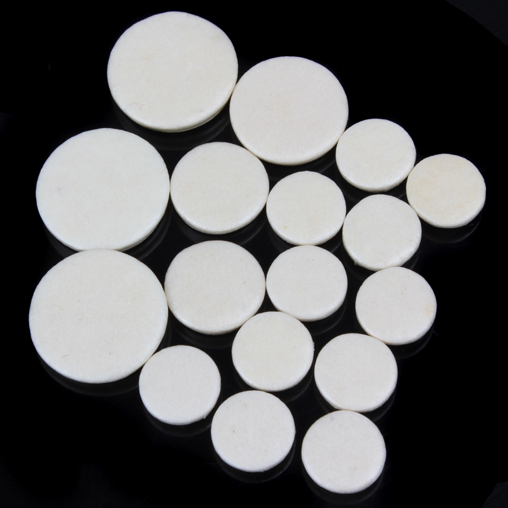 17pcs/set SLADE Leather Clarinet Replacement Pads 17.3mm 15.1mm 12mm 10mm  White Woodwind Instruments Part & Accessories