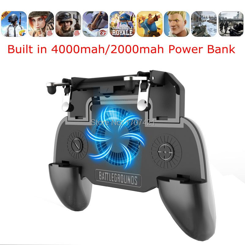 US $5 62 10% OFF|PUGB Mobile Game Controller Free Fire PUBG Mobile Joystick  Gamepad L1 R1 Button for iPhone Android Xiaomi W/ Cooling Fan Cooler-in