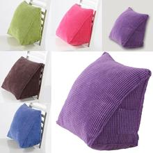 Solid Color Corduroy Ribbed Wedge Cushion Love Position Couple Adult Pillow Home Furniture