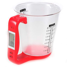 2019 Measuring Cup Scale with LCD Display Kitchen Jug Digital Food Liquid Measure Containers Tools
